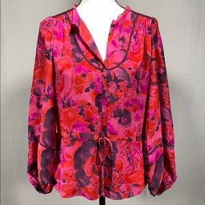 Rebecca Taylor Day to date floral Blouse size 0